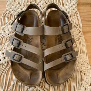 Birkenstock with Three Straps & Ankle Strap US 8.
